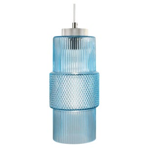 Laguna Knurled Aqua Color Pendant Light For Sale