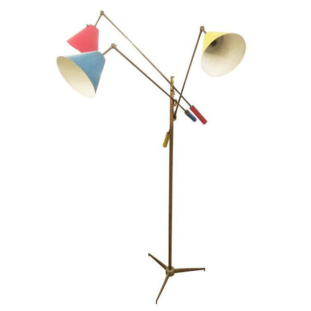 Triennale Floor Lamp by Angelo Lelli for Arredoluce, Marked, 1947 For Sale In New York - Image 6 of 7