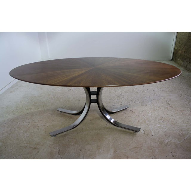 Mid-Century Modern Borsani Dining Table Starburst Wood Top - 5 Avail. For Sale - Image 3 of 9