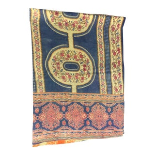 Antique Indian Hand Stitched Kantha Quilt For Sale