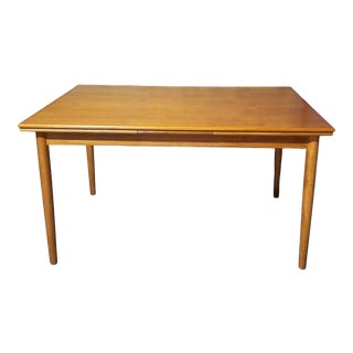 Mid-Century Danish Modern Teak Extendable Dining Table by Ar For Sale