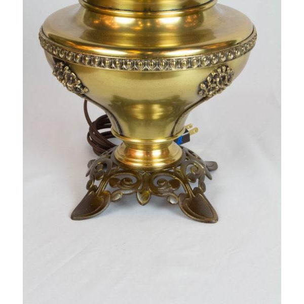Late 19th Century Bradley and Hubbard Brass and Cast Iron Table Lamp For Sale - Image 5 of 6