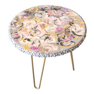 A One-Of a Kind Side Table by J J Justice For Sale