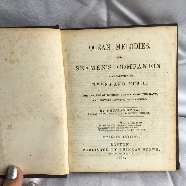 This is a precious little book! A collection of hymns and music for the use of bethels, chaplains of the navy, and private...