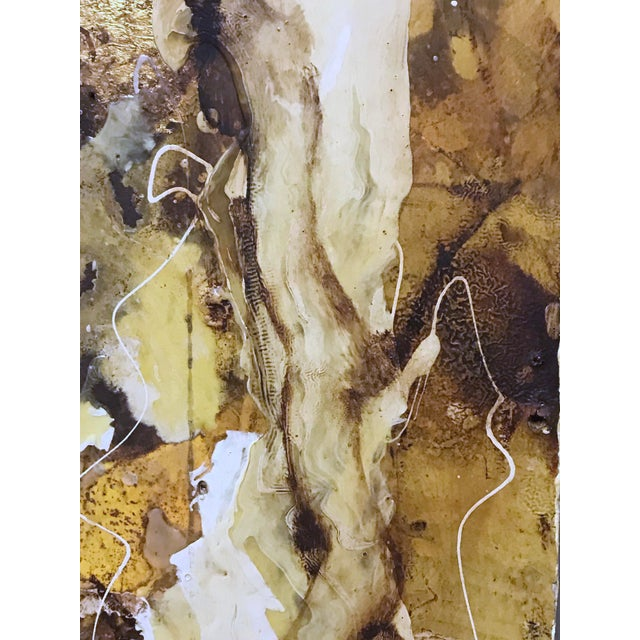 """1990s """"White Root"""" Abstract Expressionist Painting by David Geiser For Sale - Image 5 of 13"""