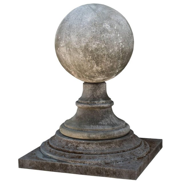 Mid 20th Century Late 20th Century French Limestone Garden Finial For Sale - Image 5 of 5
