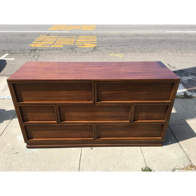 1940s Mid Century Modern Triangle Brand Mahogany Low Dresser For Sale - Image 11 of 11