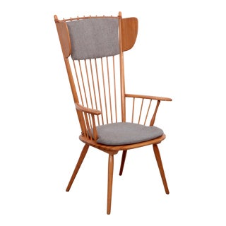Albert Haberer Wingback Armchair, Germany, 1950 For Sale