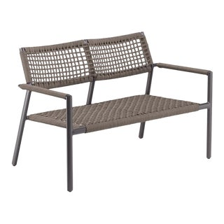 Outdoor Loveseat, Carbon and Mocha For Sale