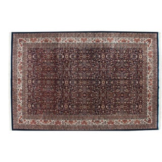 "Vintage Indian Bijar Design Carpet - 11'8"" X 17'9"" For Sale"