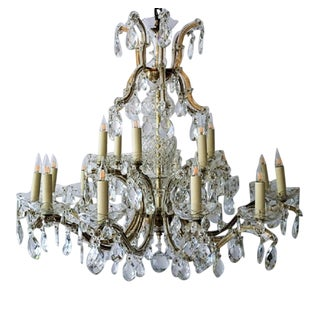 Circa 1900 Austrian Maria Theresa 18 Lite Chandelier For Sale