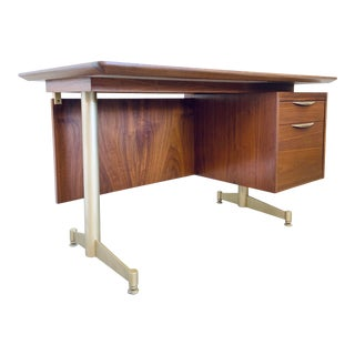 Mid-Century Floating Thonet Executive Desk For Sale