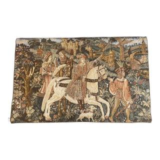 Vintage Medieval Renaissance Departure for the Hunt Belgian Tapestry by Ter Waes For Sale