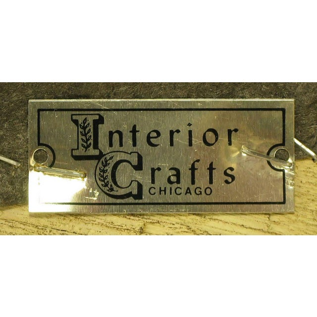 Pair of Interior Crafts Crewel and Driftwood Oak Bergeres - Image 9 of 9