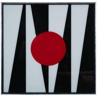 The Red Dot Framed Abstract Silkscreen For Sale