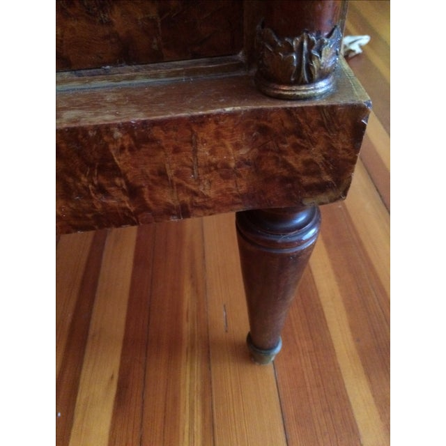 French Empire-Style Burlwood Side Table - Image 6 of 6