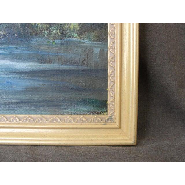 Vintage Impressionist Oil on Board Landscape Painting - Image 5 of 9