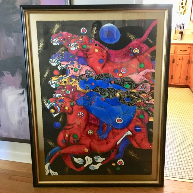 """""""Panthers"""" by Jiang Tiefeng For Sale In Richmond - Image 6 of 6"""
