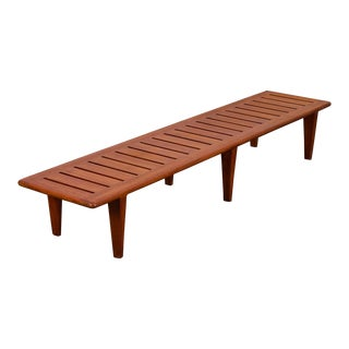 Hans J. Wegner Model Jh-574 Teak Slat Bench For Sale