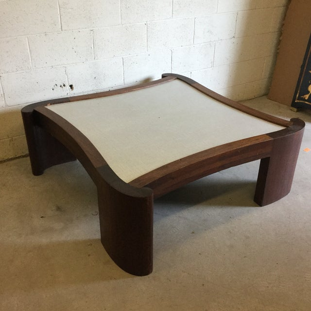 Mid Century Modern Walnut Coffee Table For Sale - Image 4 of 13