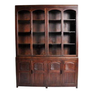 British Colonial Art Deco Bookcase For Sale