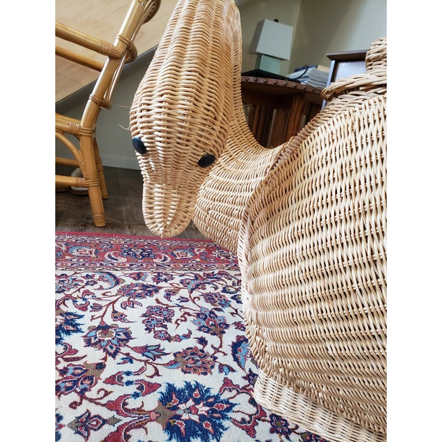 1960s Vintage Wicker Swan Table/Stool For Sale - Image 5 of 8