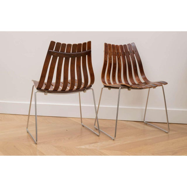 Rosewood Hans Brattrud Rosewood Chairs - Set of 4 For Sale - Image 7 of 8