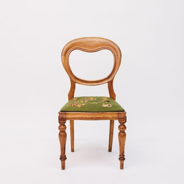 Traditional Shield Back Side Chair With Petit Point Seat For Sale - Image 3 of 6