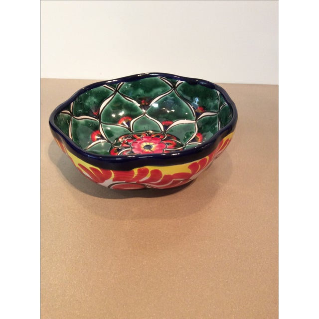 Mexican Hand Painted Bowl - Image 4 of 5