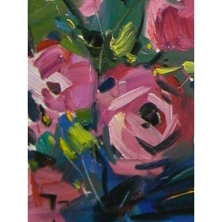 Jose Trujillo Original Flower Oil Painting For Sale