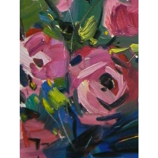 Jose Trujillo Original Flower Oil Painting For Sale