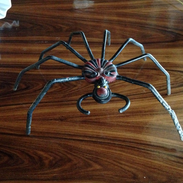 Contemporary Cast Iron Spider For Sale - Image 3 of 8