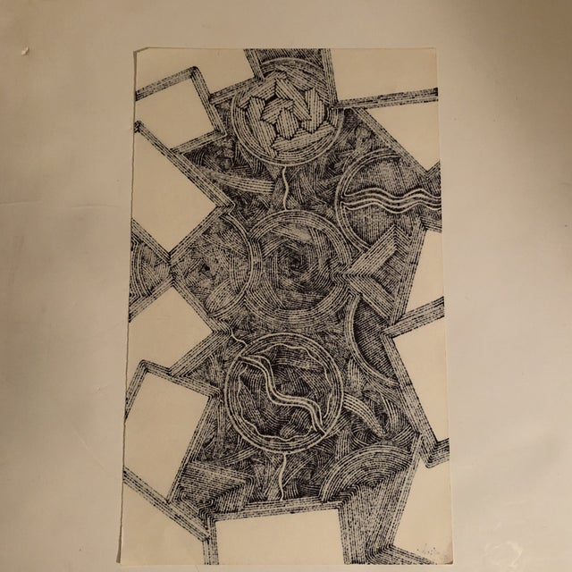 2010s Original Ink Abstract Drawing Outsider Mitch Michener For Sale - Image 5 of 6
