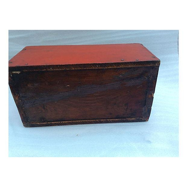 Brown Ship's Antique Mystery Box For Sale - Image 8 of 9