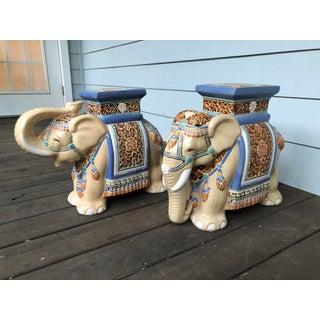 Vintage Elephant Terra Cotta Garden Stool. Apair Preview