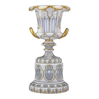 Bohemian Glass Vase For Sale
