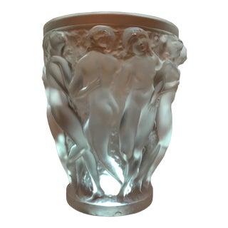 Lalique Crystal Bacchantes Vase For Sale