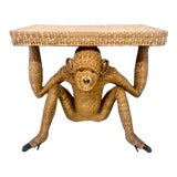 Image of Mario Lopez Torres Wicker Monkey Console Table For Sale