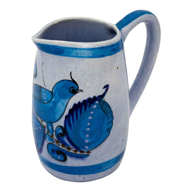 Vintage Mid-Century Mexican Ceramic Pitcher For Sale