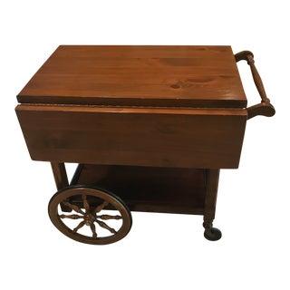 Mid-Century Modern Heywood Wakefield Wooden Drink Cart