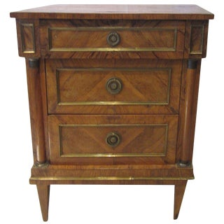 19th Century Italian Fruitwood Nightstand For Sale