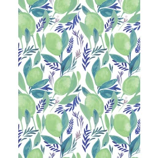 Lime Patterned Pre-Pasted Double Wallpaper Roll