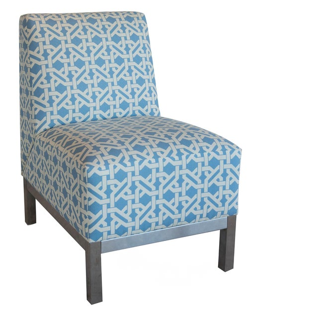 Pair of Modern Slipper Chairs - Image 1 of 6