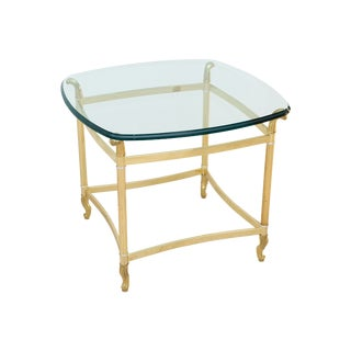 1970s Mid-Century Modern Gold Brass Coffee Table For Sale