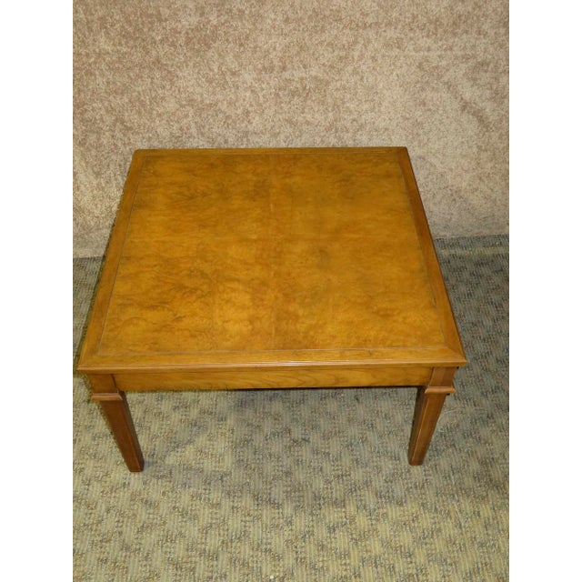 1960s Traditional Baker Four Drawer Square Coffee Table Chairish