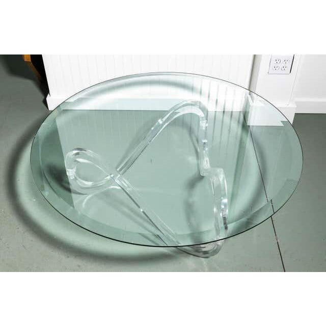 Mid-Century Modern Late 20th Century Vintage Glass Coffee Table For Sale - Image 3 of 8