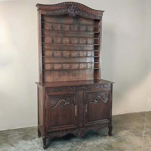 Country 19th Century French Normandy Vaisselier ~ Buffet For Sale - Image 3 of 13