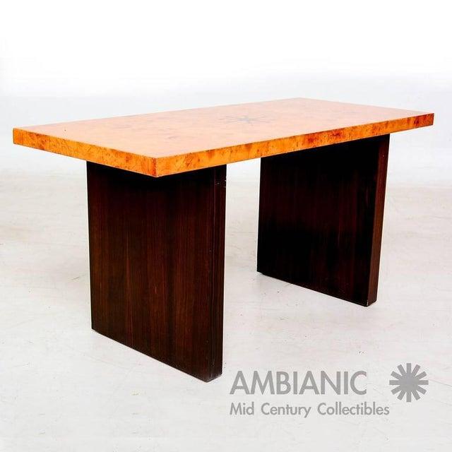 Modern Andrew Szoeke Burl & Macassar Coffee Table For Sale - Image 3 of 8