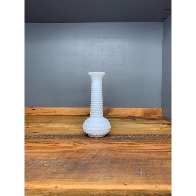 Hobnail Milk Glass Bud Vase For Sale - Image 4 of 7