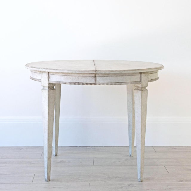 Not Yet Made - Made To Order Märta Gustavian Extension Dining Table For Sale - Image 5 of 11